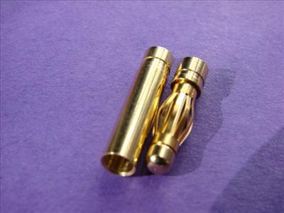 Goldkontakt Stecker 4,00 mm